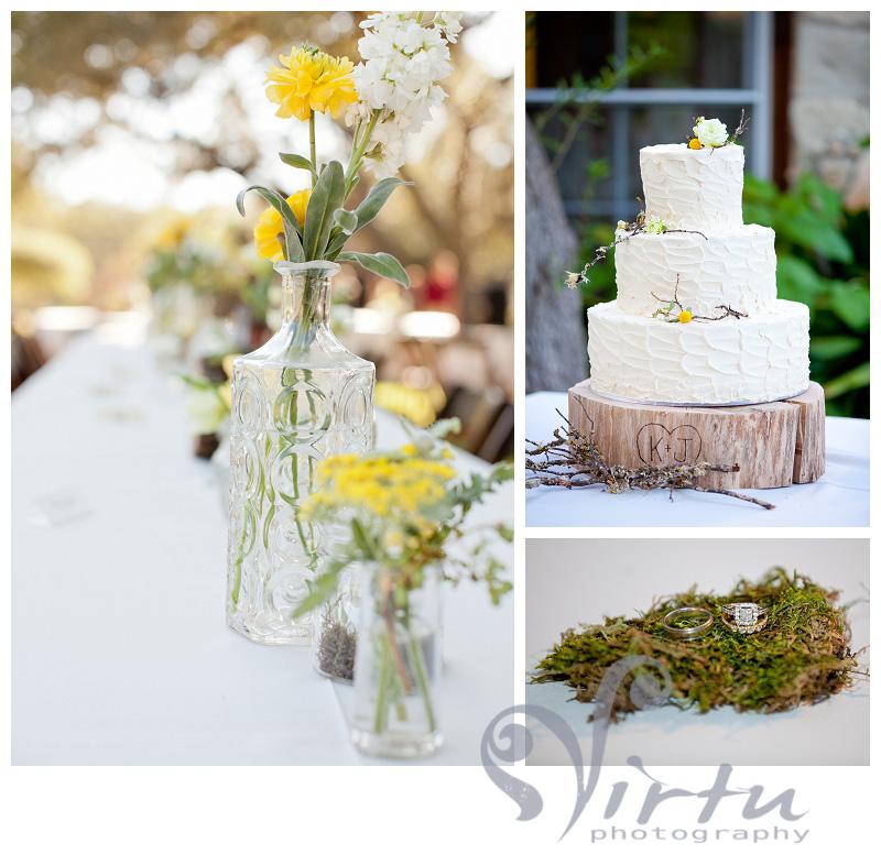 wedding rings in moss