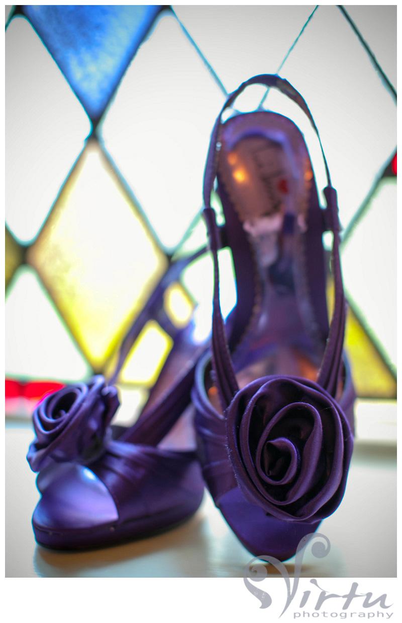 fun wedding shoes in purple