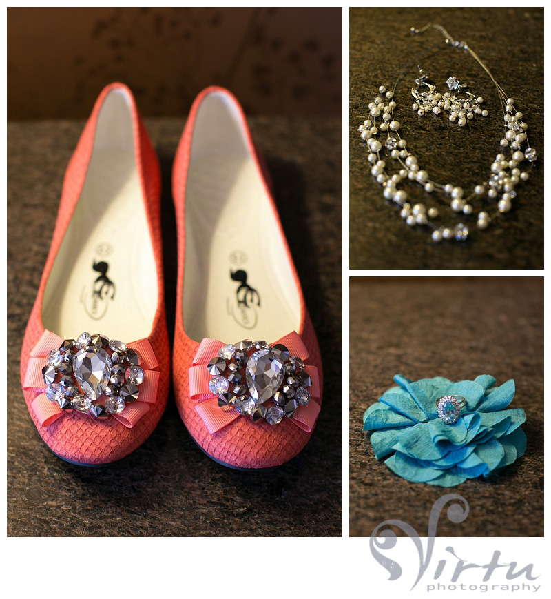 coral wedding accessories