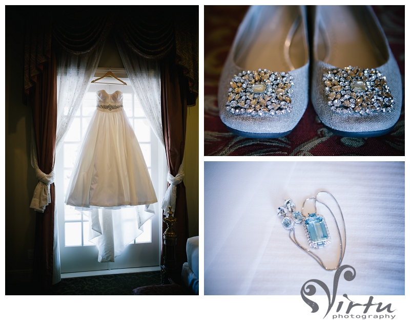 wedding details dress and shoes