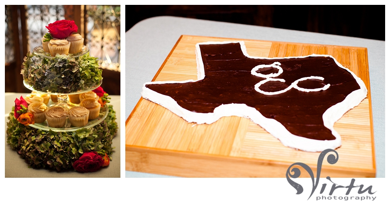texas shape grooms cake, 3 tiered wedding cake
