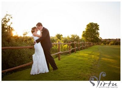 bride groom sunset ut golf club